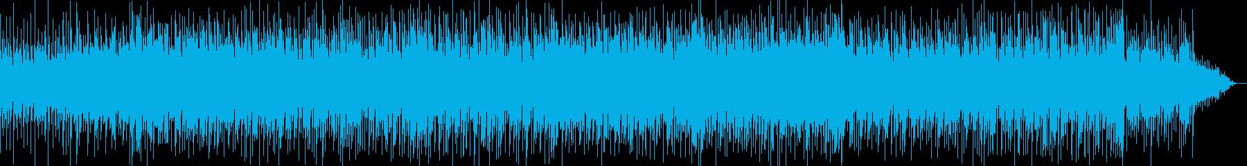 明るく爽やかなイメージのBGMの再生済みの波形