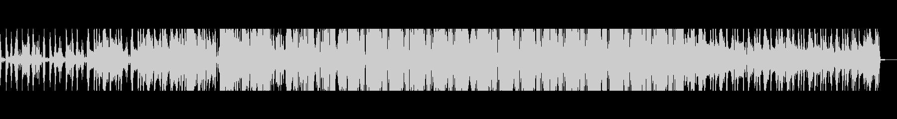 不穏なニュース用電子音楽の未再生の波形