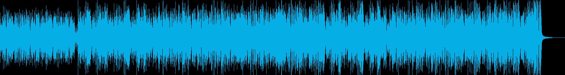 爽やかで軽快なボサノバの再生済みの波形