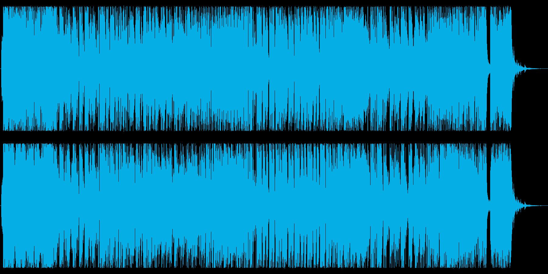 朝をイメージした軽快で明るいピアノ曲の再生済みの波形