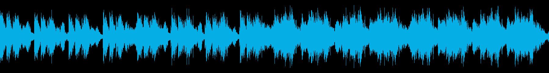緊張感のあるオーケストラ/速め ループの再生済みの波形