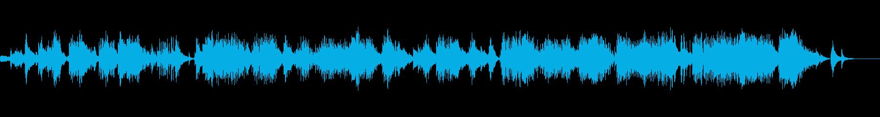 純和風で伝統的な曲の再生済みの波形