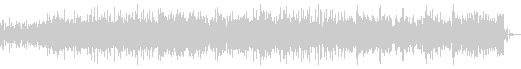ダンス風ビートのシネマティックBGMの未再生の波形