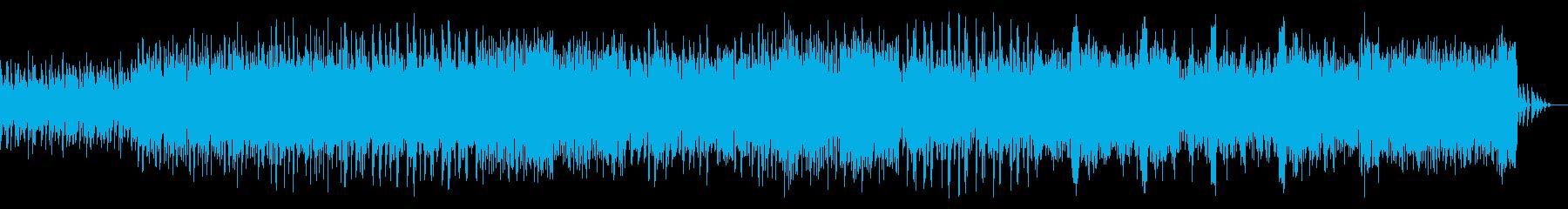 ダンス風ビートのシネマティックBGMの再生済みの波形