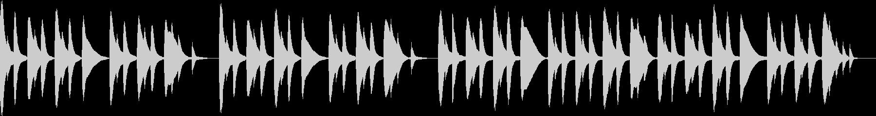 木琴で作ったほのぼのとした雰囲気の曲の未再生の波形