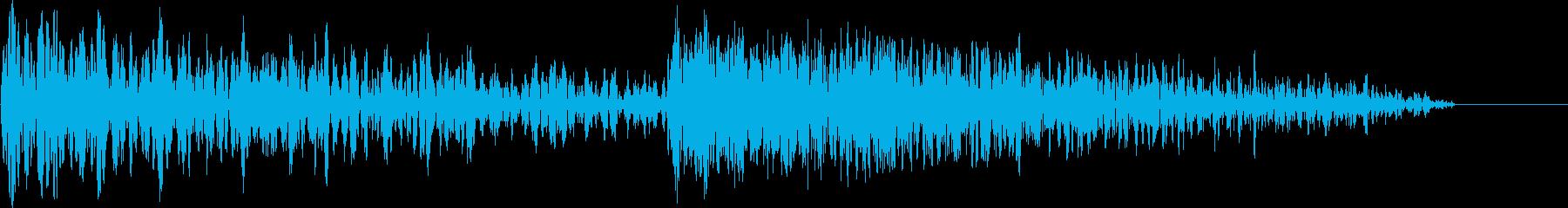 ビシッ!(ひび割れる音)の再生済みの波形