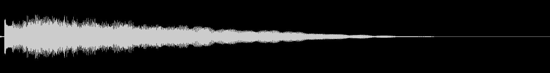 ギターによる謎めいた場面転換音の未再生の波形