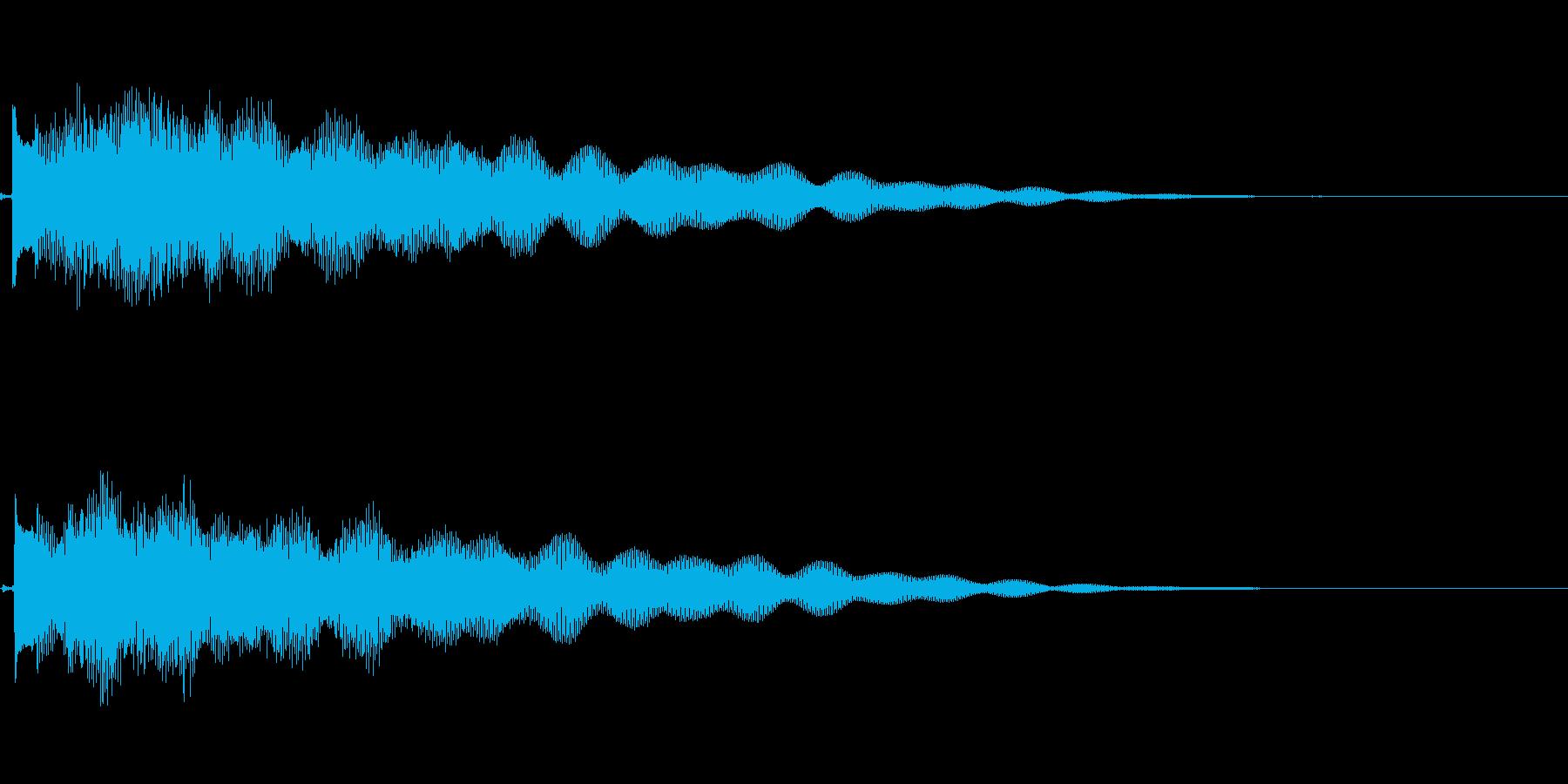 ギターによる謎めいた場面転換音の再生済みの波形
