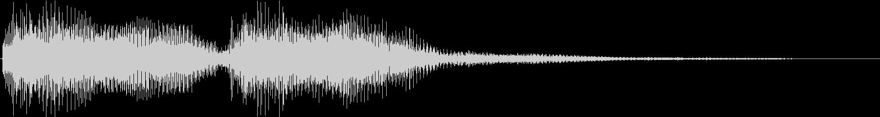 KANTクイズの時のジングル11の未再生の波形
