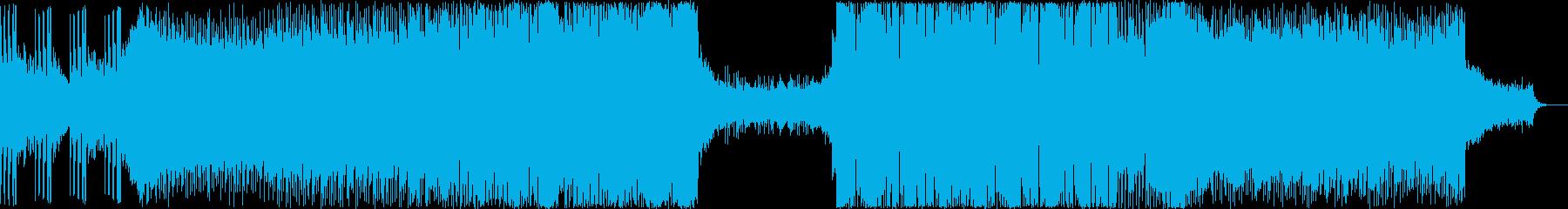 スピード感のあるエレクトロの再生済みの波形