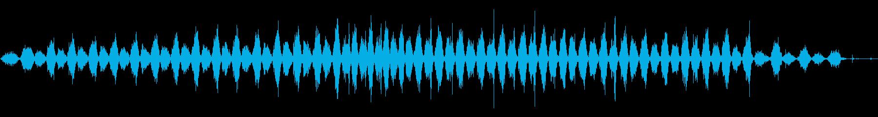 クロスカットソー:2 x 4のソー...の再生済みの波形