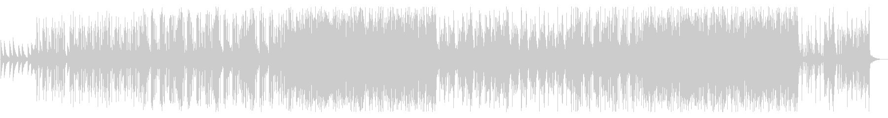 ミドルテンポのEDMトラックの未再生の波形