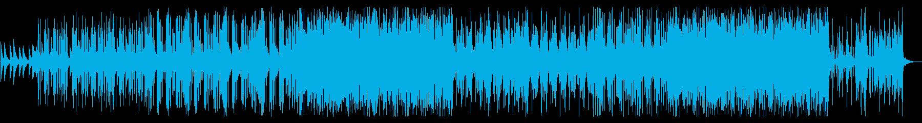 ミドルテンポのEDMトラックの再生済みの波形