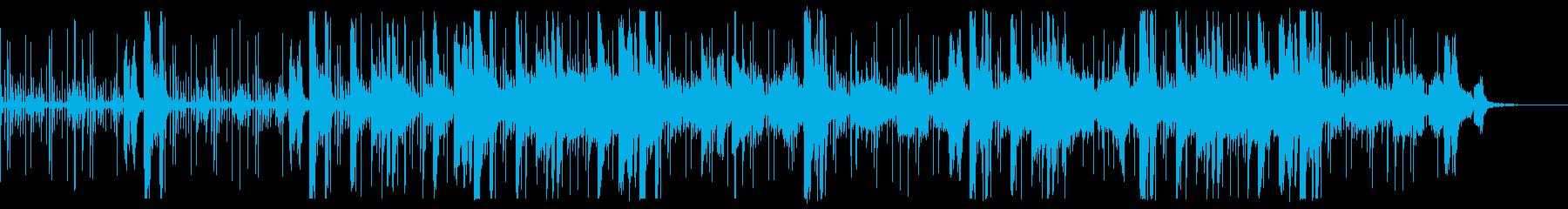 電子音・エレクトロニカ 悲壮的あるピアノの再生済みの波形