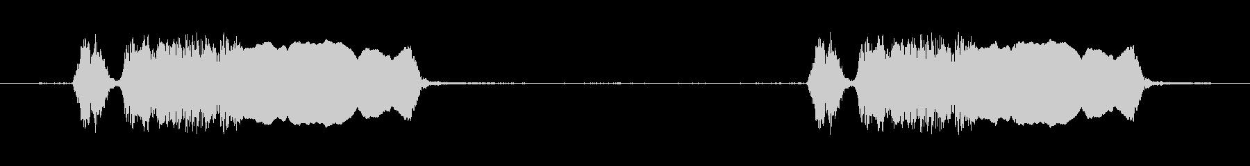 ルースターカラス2回、屋外、鳥; ...の未再生の波形