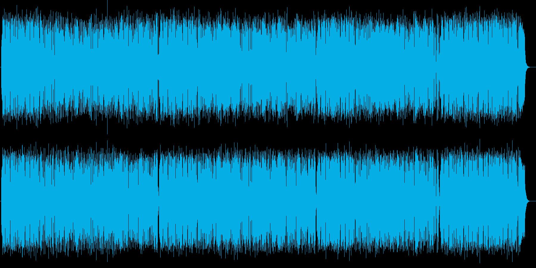 明るく爽やかシンセサイザーサウンドの再生済みの波形