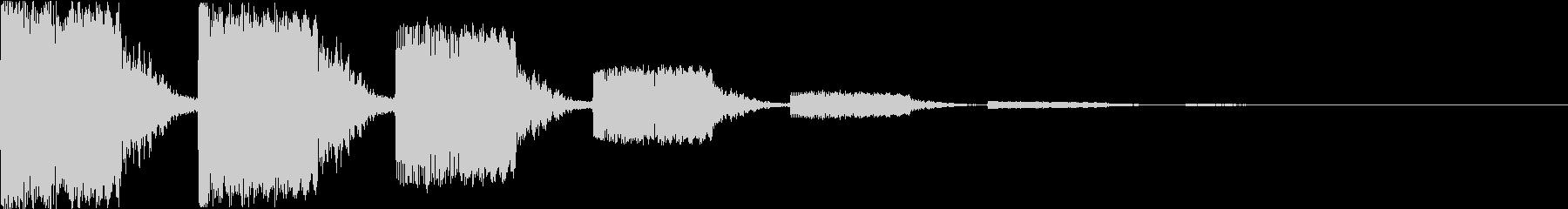 キュイーン:レトロなワープ音・瞬間移動bの未再生の波形