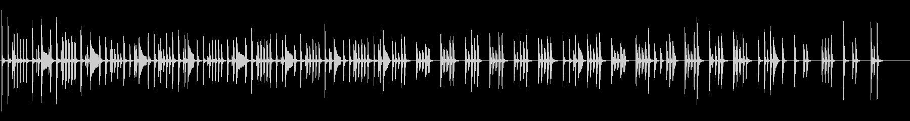 不思議な体操・シュール&コミカルなピアノの未再生の波形