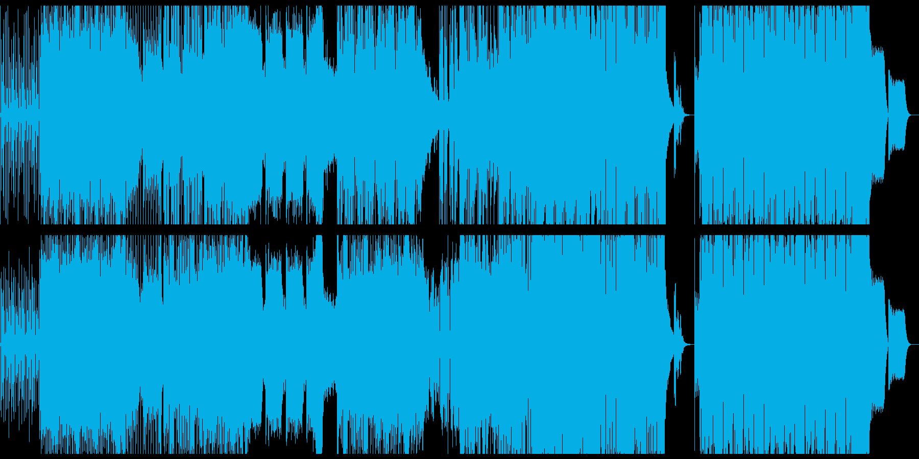 躍動感、疾走感のファンクなBGMの再生済みの波形