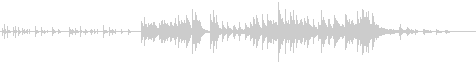 木星(ピアノカバー)の未再生の波形