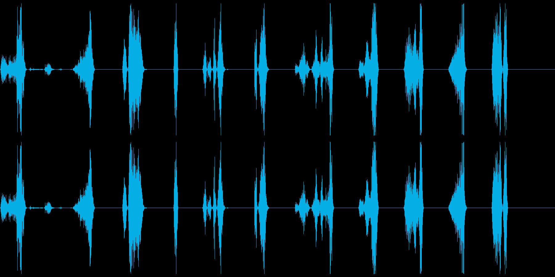 シングルバイト/ボーカルのみ21-30の再生済みの波形