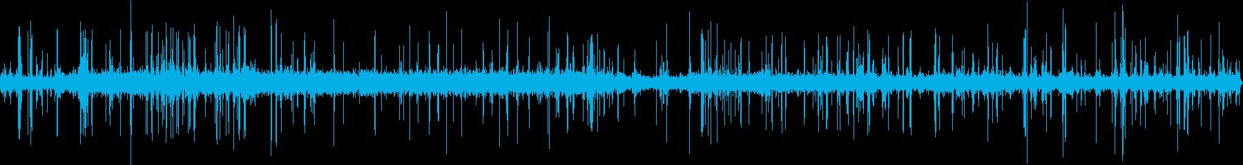 古典的なラジオの静的ノイズの再生済みの波形