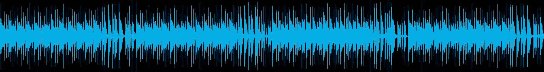 コミカルな料理番組風音楽(メロ無ループの再生済みの波形