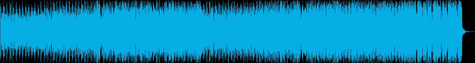 テンポ早めの縦ノリEDMの再生済みの波形
