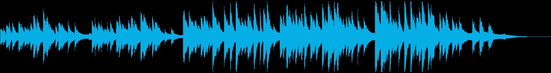youtube映像に 切ないピアノソロの再生済みの波形