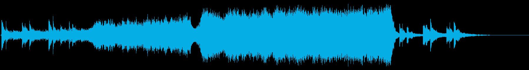 壮大な映画の予告編トレーラー音楽の再生済みの波形
