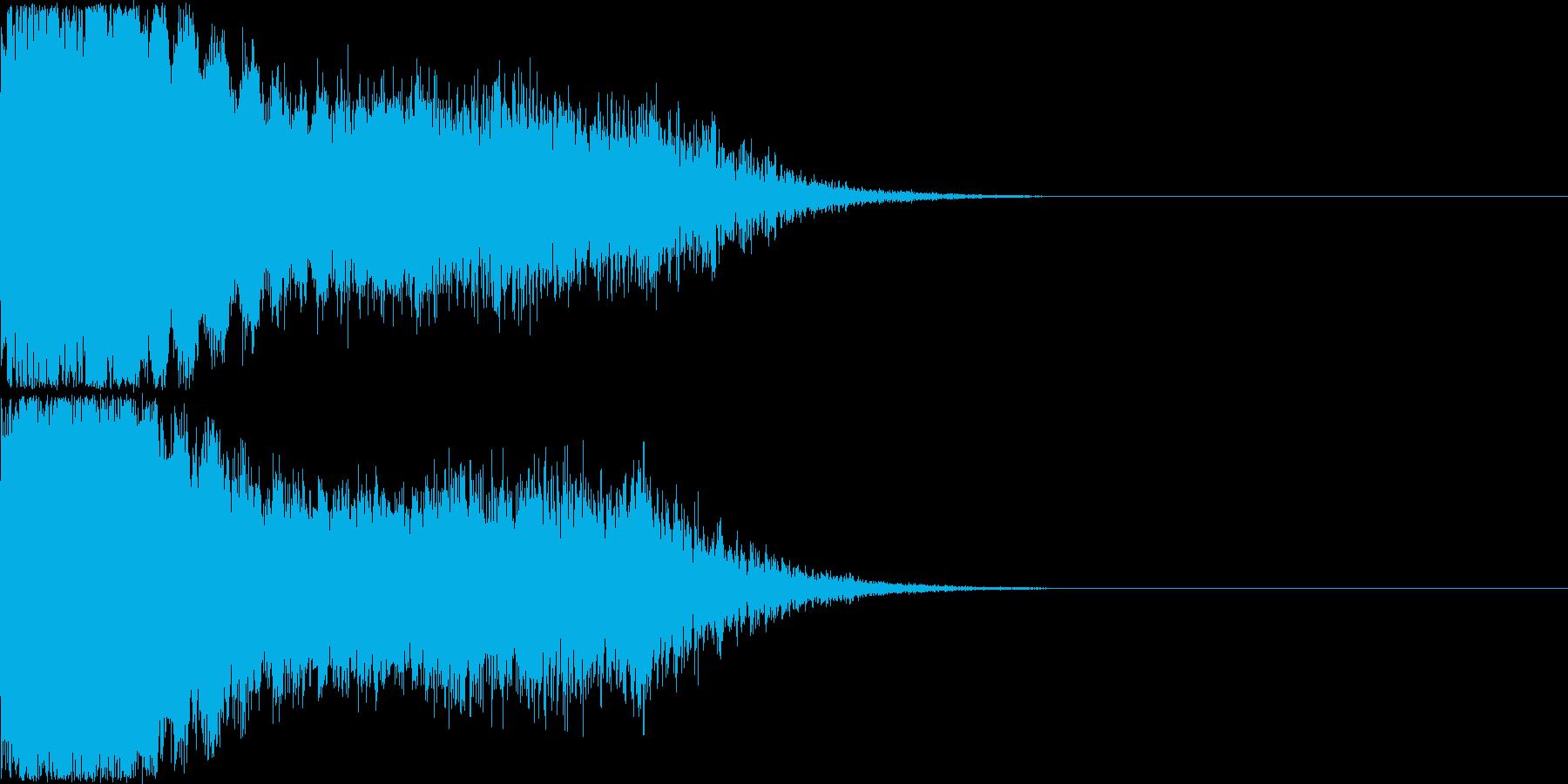 刀 剣 ソード カキーン キュイーン26の再生済みの波形