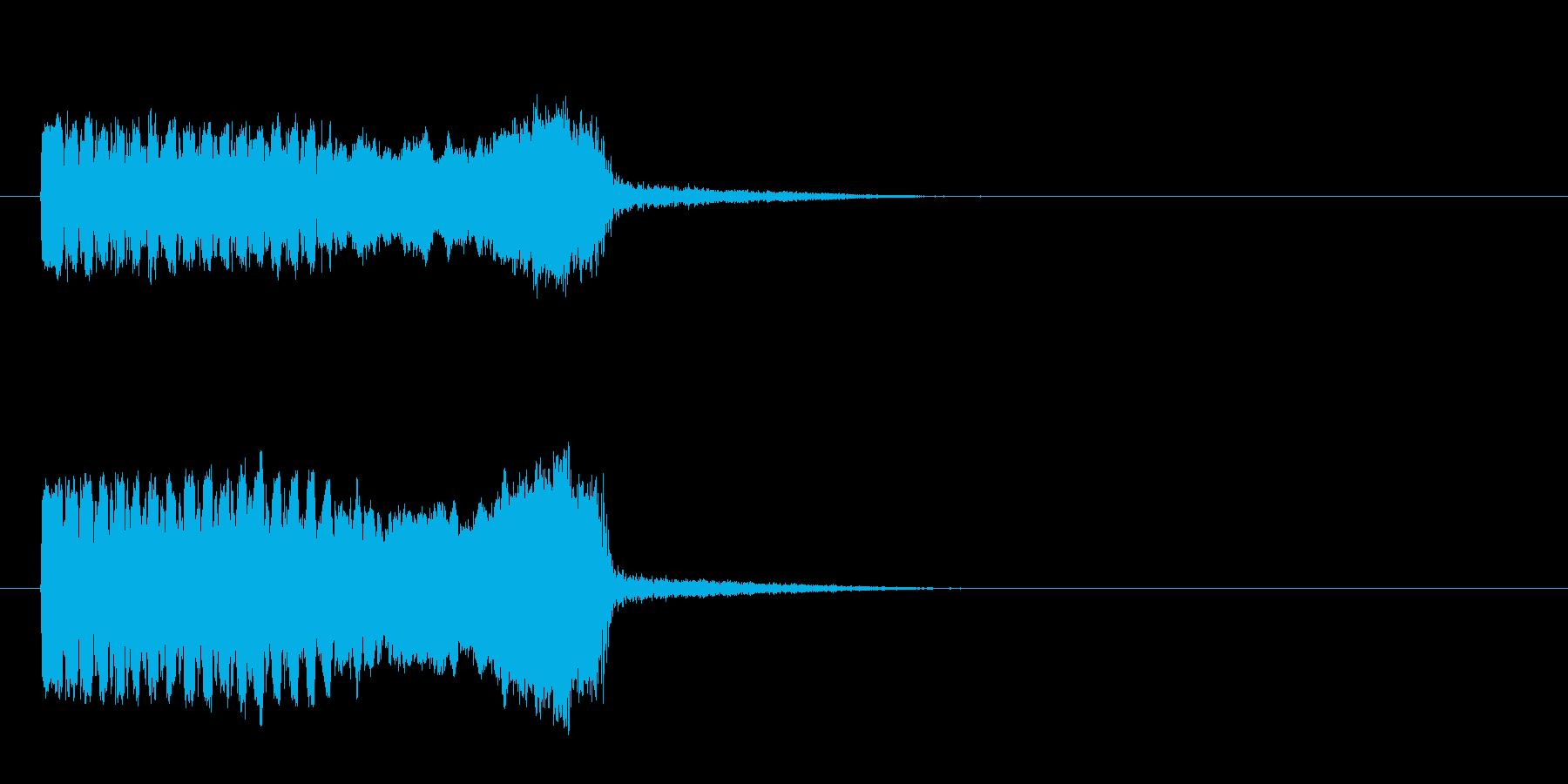 「プ〜ゥッ!」おもちゃの鳥の鳴き声の擬音の再生済みの波形