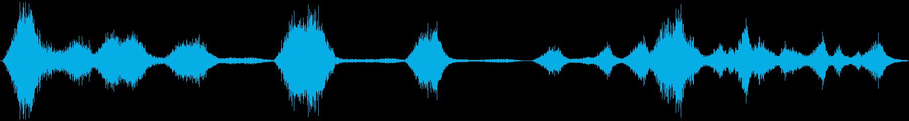 風の吹く音の再生済みの波形