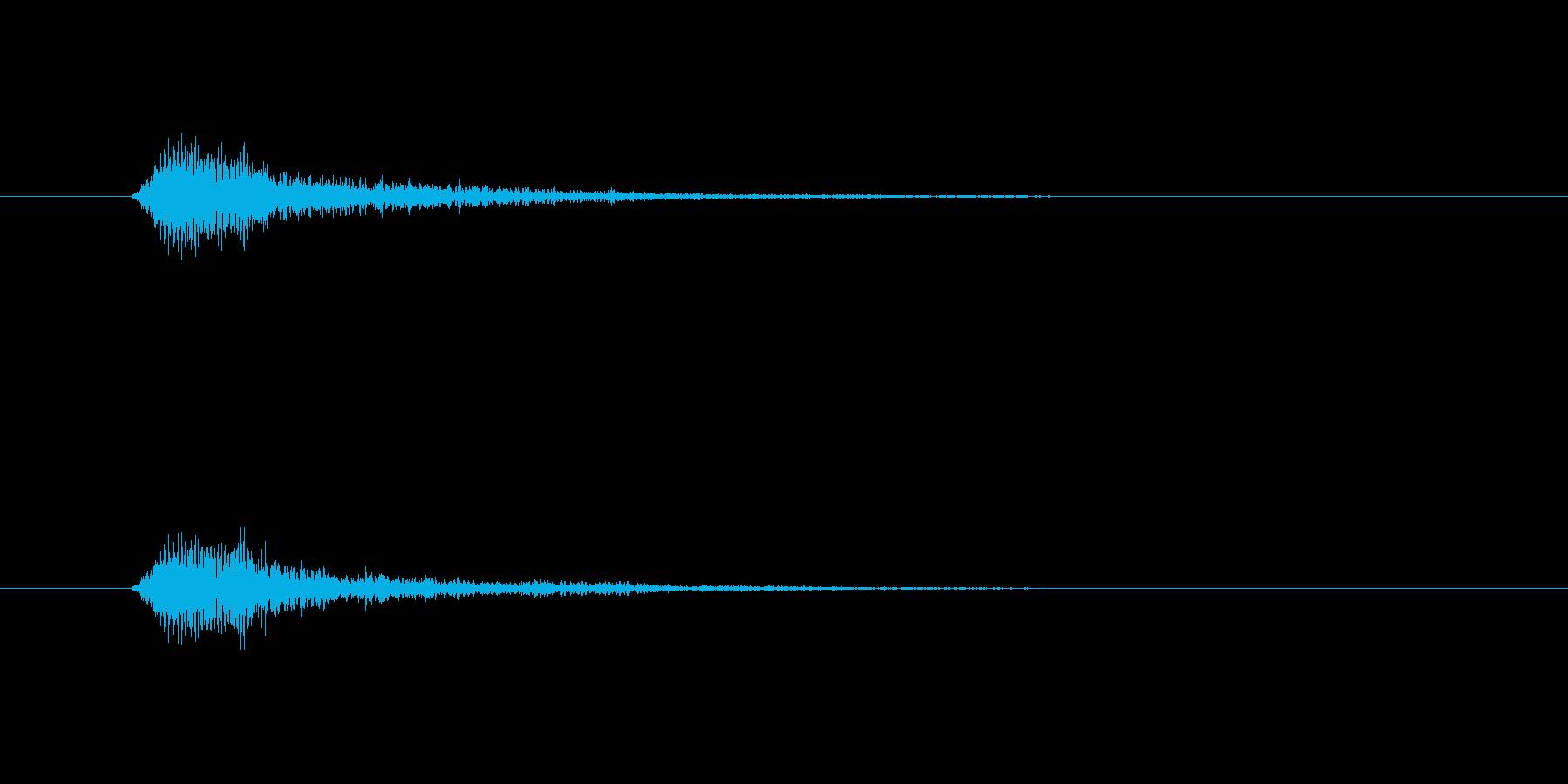フォーン(透明感のある決定音)の再生済みの波形