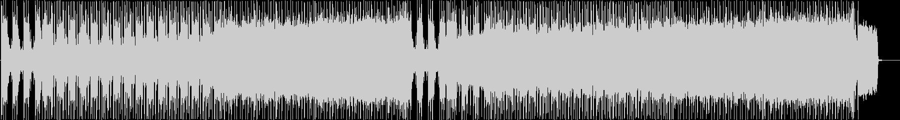 バトルをイメージしたメタルBGMの未再生の波形