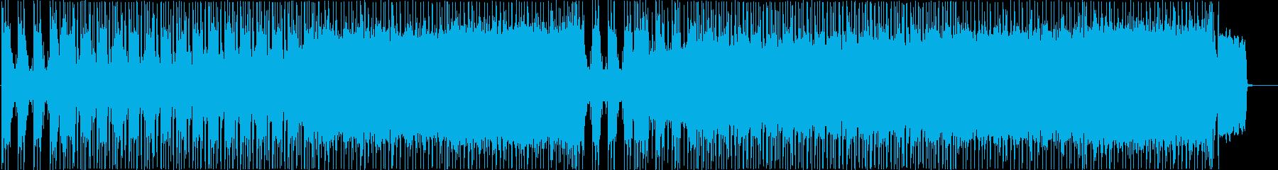 バトルをイメージしたメタルBGMの再生済みの波形