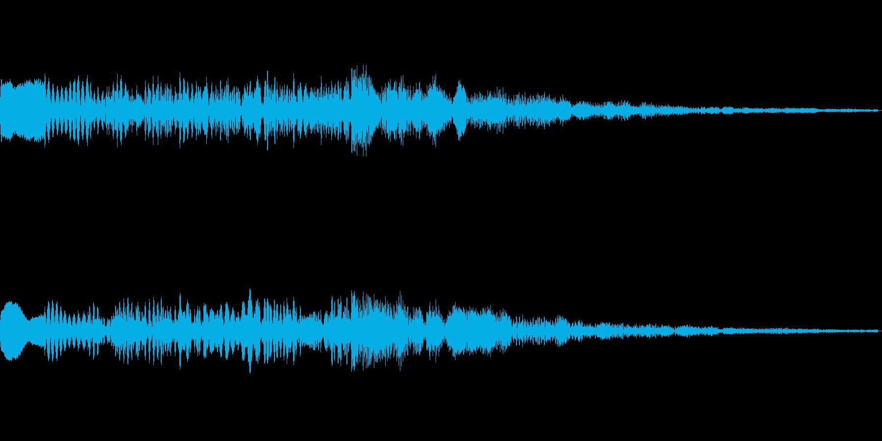 ゲームクリア時の効果音です。の再生済みの波形