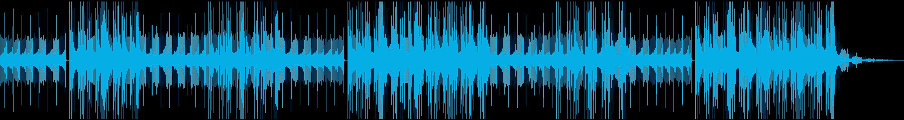vlogかわいいおしゃれhiphopの曲の再生済みの波形