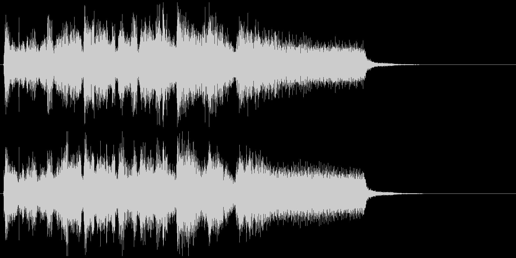 疾走感あるアクション系ジャズのジングルの未再生の波形