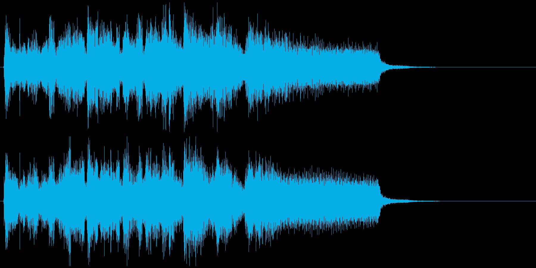 疾走感あるアクション系ジャズのジングルの再生済みの波形