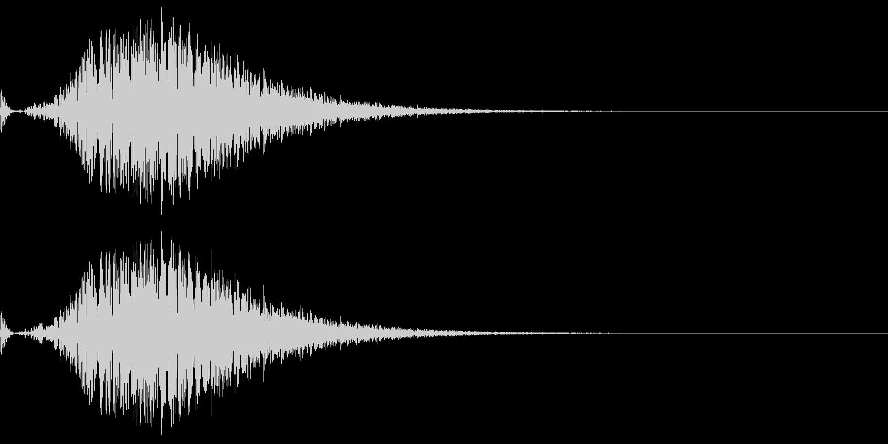 ワープ等の効果をイメージした音。の未再生の波形