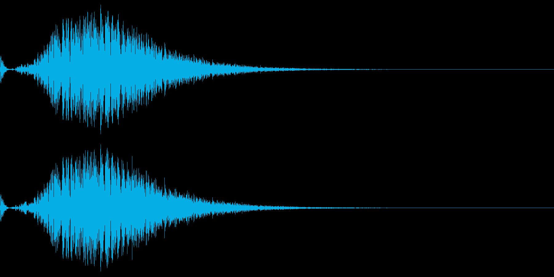 ワープ等の効果をイメージした音。の再生済みの波形