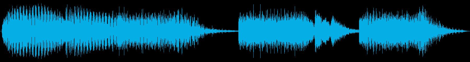 エレクトリックギター:ショートロックリフの再生済みの波形