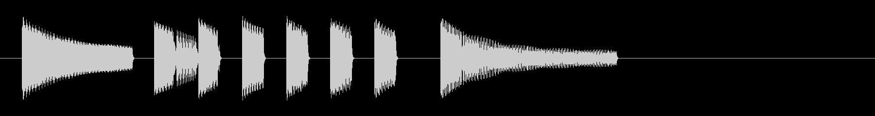 達成 ファミコン 8bitファンファーレの未再生の波形