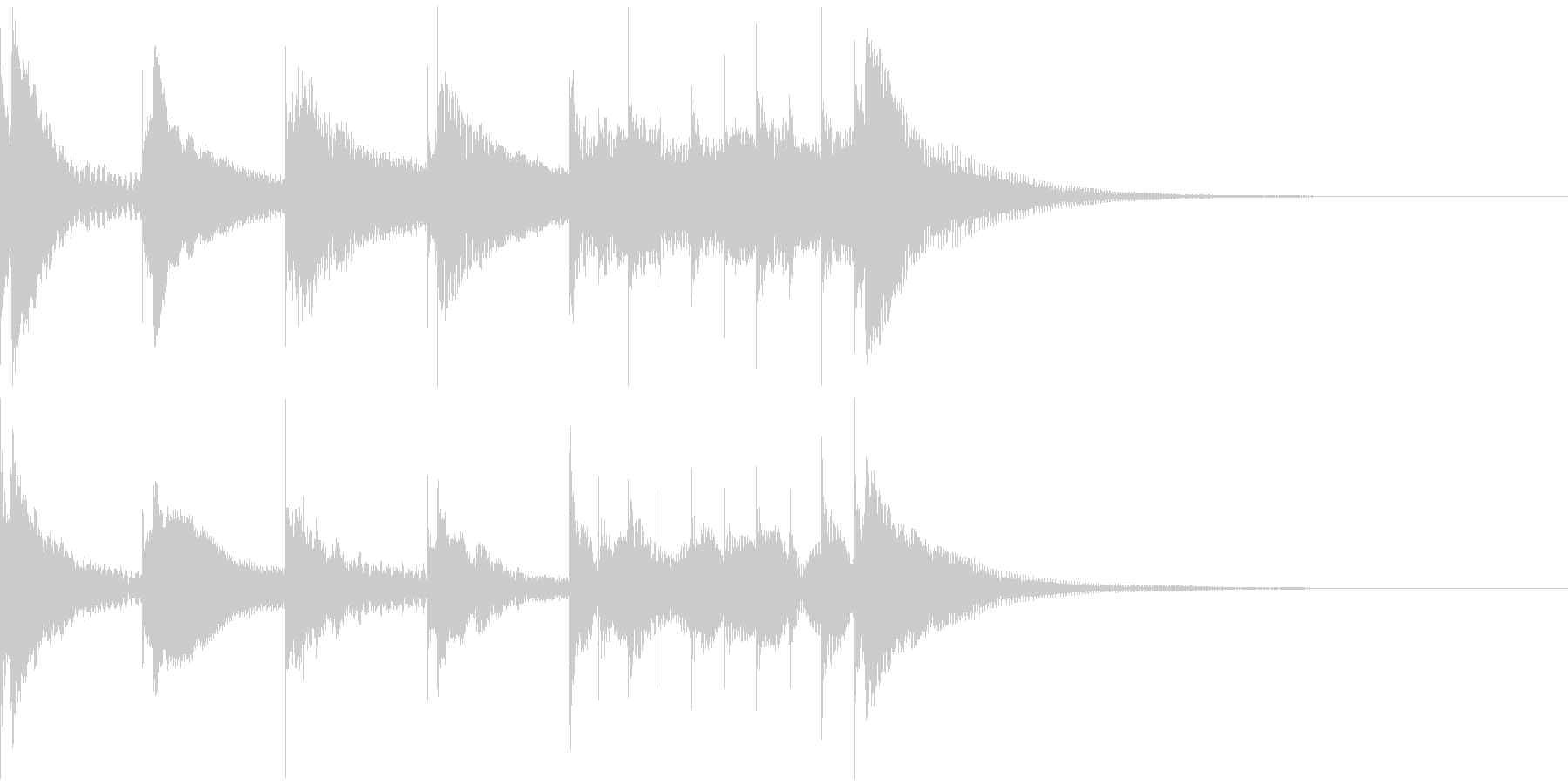 マリンバの音で失敗、残念系のジングルの未再生の波形