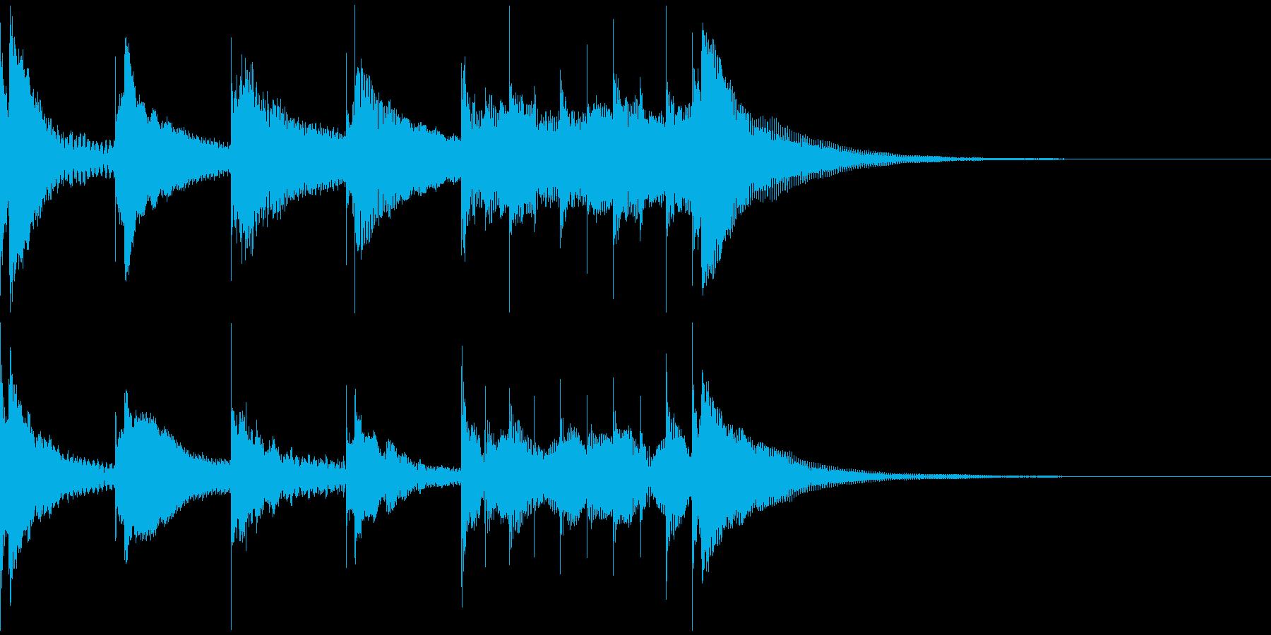マリンバの音で失敗、残念系のジングルの再生済みの波形