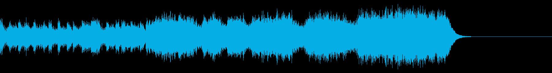 アクションゲーム風の音楽_イントロなしの再生済みの波形
