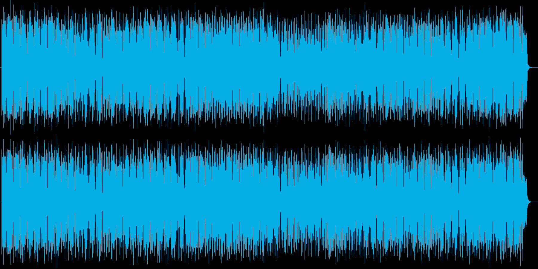 コミカルで落ち着き感があるシンセの曲の再生済みの波形