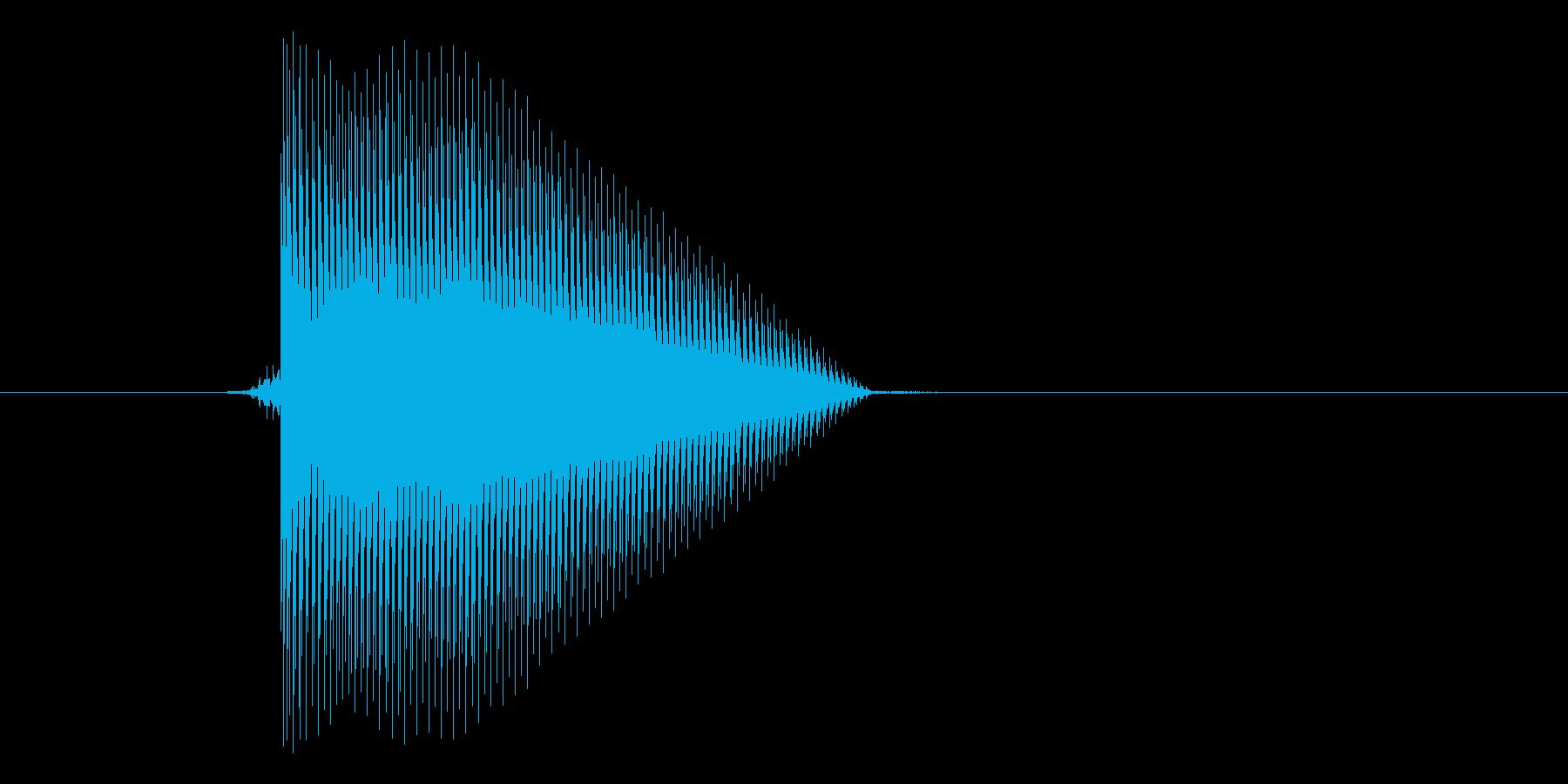 ゲーム(ファミコン風)セレクト音_047の再生済みの波形