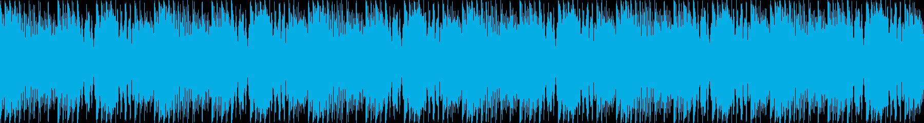 マリンバ/ピアノ/ループ/動画BGM用の再生済みの波形